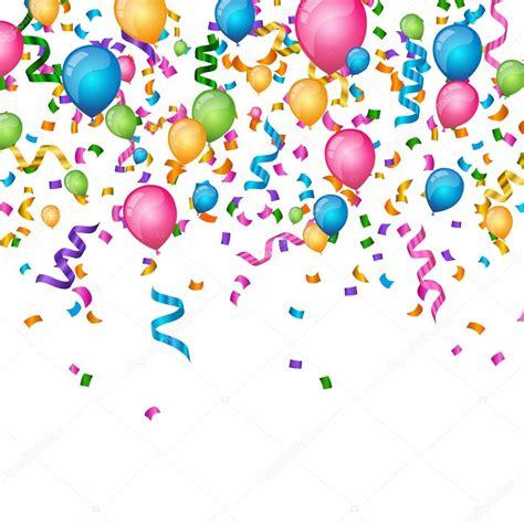 imagenes vectores fiesta vector fondo fiesta con confeti rizado cintas y globos