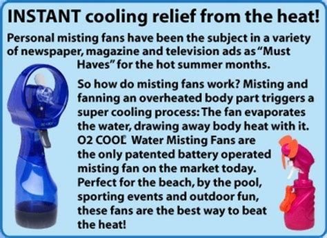 o2cool deluxe misting fan o2 cool deluxe water misting fan the warming store