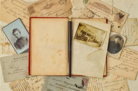 unlimited memory 3 manuscripts photographic memory memory accelerated learning books background with vintage photo postal card and empty open