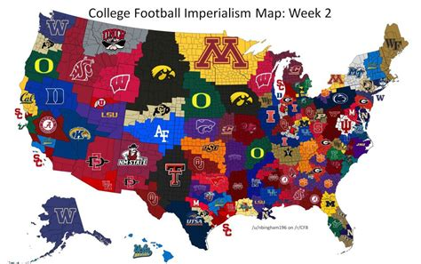 college map college football imperialism maps maps