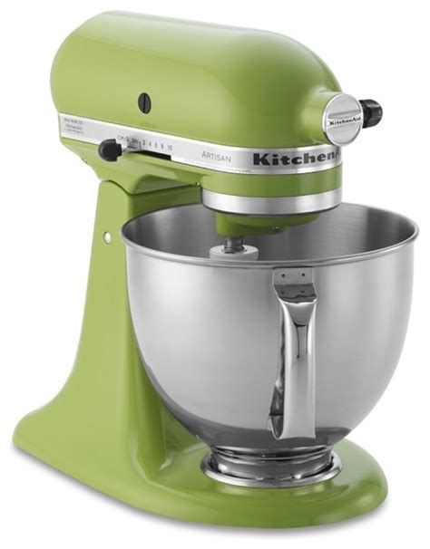 green kitchen appliances kitchenaid artisan stand mixer green apple contemporary