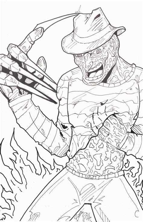 coloring books for adults tesco freddy krueger coloring page coloring horror