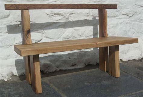 green oak bench solid green oak bench made for gardens