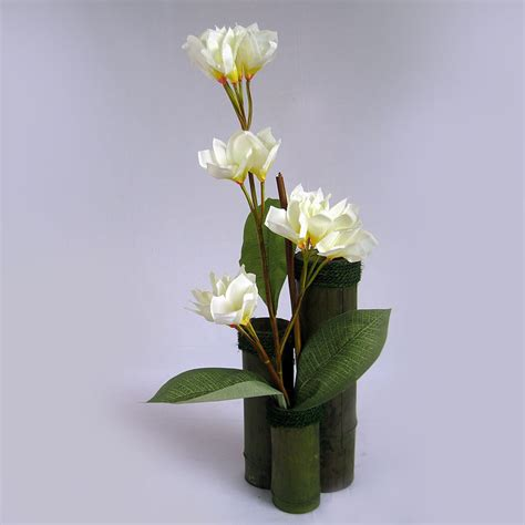 Artificial Vase Flowers by Artificial Mexican Frangipani Flower Arrangement On