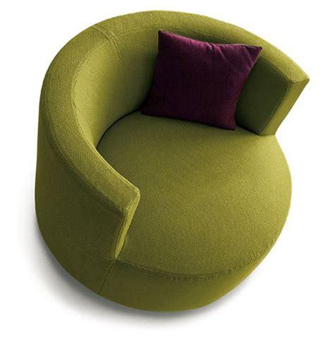round armchair round backrest chair chance by saba italia