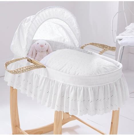 moses bed new clair de lune white baby moses basket mattress ebay