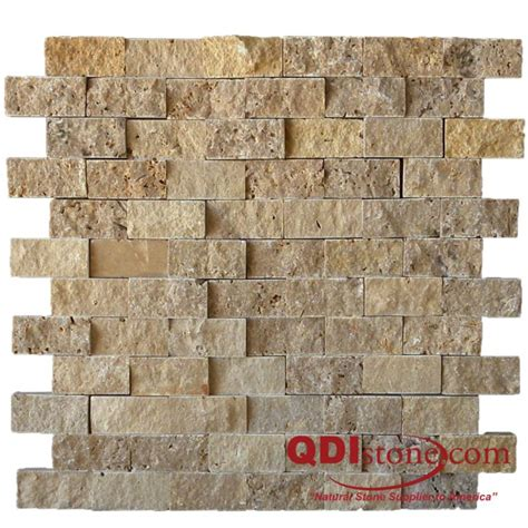 noce travertine split faced wall pavers from turkey noce travertine split face tile qdisurfaces