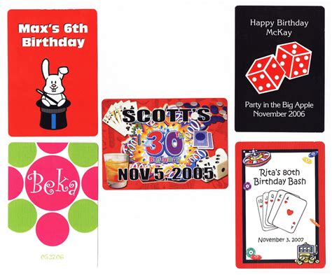 Gift Card Custom - personalized playing cards for birthdays personalized playing cards