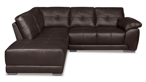 left facing sectional sofa rylee 2 piece genuine leather left facing sectional
