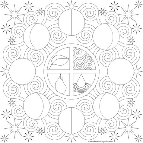 moon mandala coloring pages don t eat the paste moon phases mandala