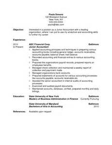 junior accountant resume sle pdf junior tax accountant resume najmlaemah
