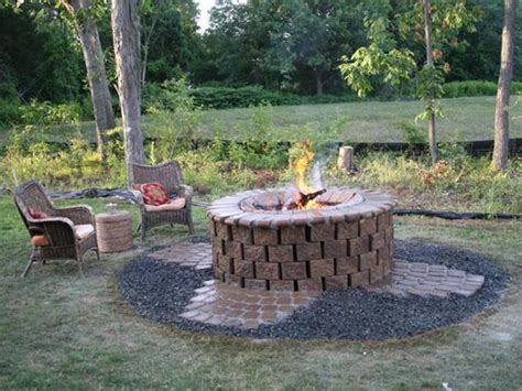 how to make a fire pit in backyard brick fire pit design ideas hgtv