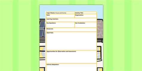 focus planning template houses and homes themed led focus planning template