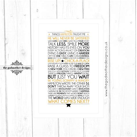 printable hamilton lyrics hamilton broadway musical quotes lyrics typographic print