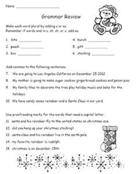 2nd grade grammar christmas 59 best grammar and language arts for 2nd grade images on free math
