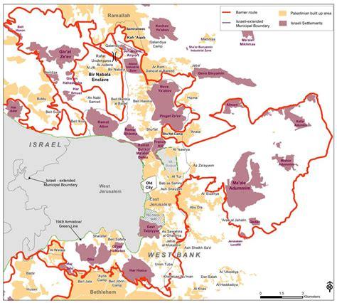 jerusalem israel map israel s settlements 50 years of land theft explained