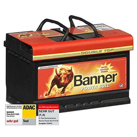 markisen test stiftung warentest banner power bull autobatterie 12v 72ah 660a p7209 test