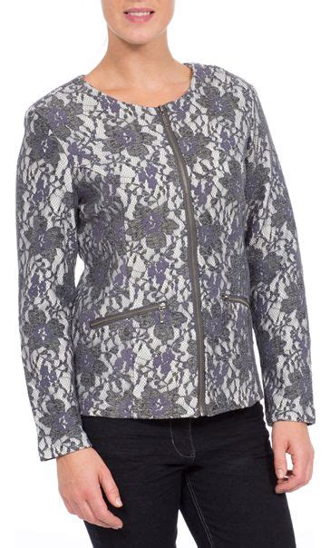 Lace Zip Jacket lace design unlined zip jacket
