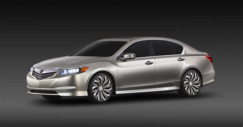 2014 acura rlx previewed by hybrid concept in new york