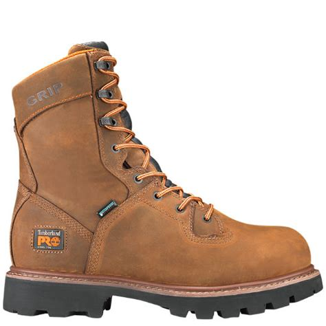 timberland logger boots s timberland pro 174 crosscut 8 quot steel toe logger boots