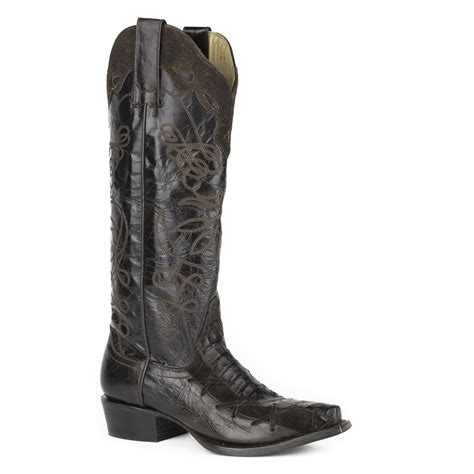 stetson boots for pungo ridge stetson violet snip toe boots brown