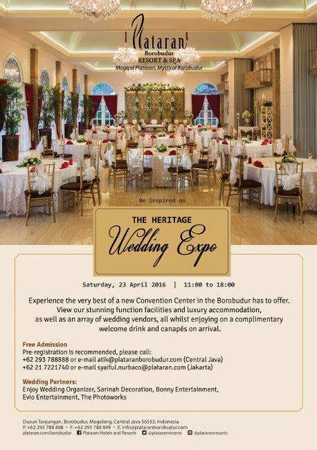Wedding Organizer Jakarta Recommended by The Heritage Wedding Expo 2016 171 Informasi Pameran Event