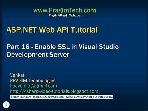 visual studio asp net tutorial for beginners sql server net and c video tutorial enable ssl in