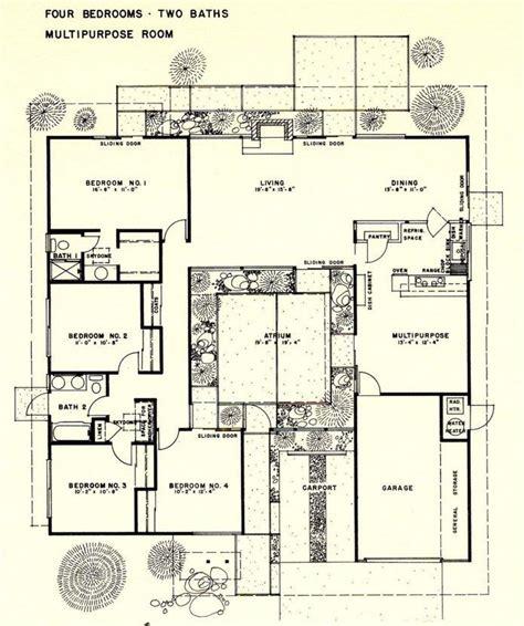 joseph eichler home plans 26 best eichler floor plans images on pinterest