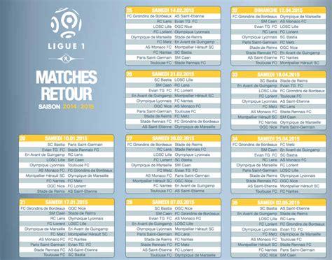 Calendrier Psg Ligue Des Chions 2015 16 Calendrier De La Ligue 1 Saison 2014 2015 Football