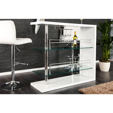 Table Basse Verre Et Métal by Table Bar Blanc Laqu 233 Table De Bar Design Blanc Laque