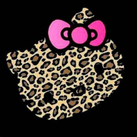 wallpaper hello kitty leopard hello kitty leopard printed style with pink bow things i