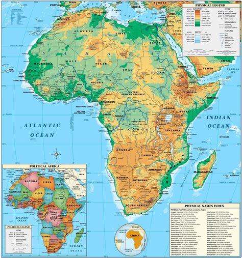 fotos de frica para imprimir mapa f 237 sico de 193 frica mapas f 237 sicos atlas del mundo