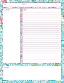lecture notes template word lilly note taking printables also in impression