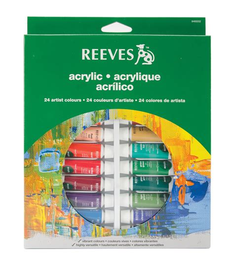 acrylic paint joann fabrics reeves acrylic paints 10ml 24 pkg assorted colors jo