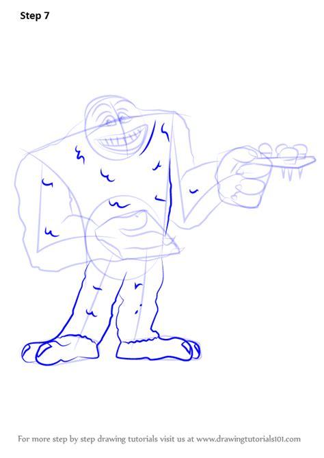 step step draw yeti monsters drawingtutorials101