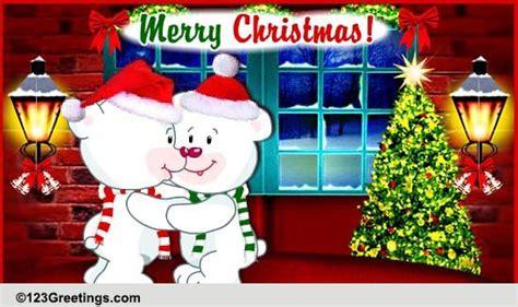 bear hugs  christmas  hugs ecards greeting cards
