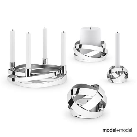 Georg Kerzenhalter georg ribbons candleholders 3d model max obj fbx