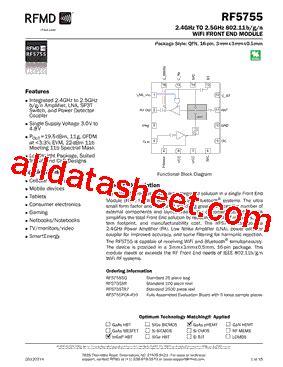 datasheet of rf diode rf5755 datasheet pdf rf micro devices