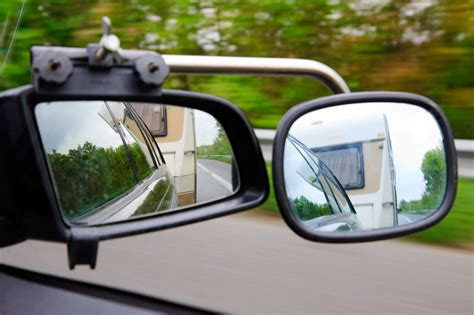 what precaution should you take while towing a trailered boat caravan mirrors how to choose the right towing mirrors