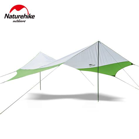 naturehike hexagonal sun shelter with poles waterproof