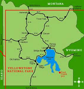 yellowstone park map top hd wallpapers