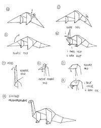 Origami Dinosaur Diagram - rawr origami dinosaur origami