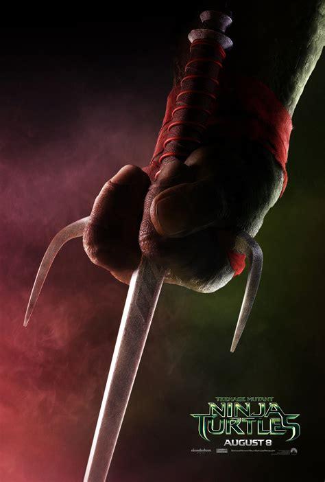 Tmnt 2014 Raphael mutant turtles teaser posters released