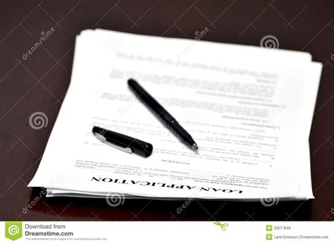 Stock Loan Desk loan application on desk royalty free stock images image
