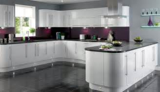 White Gloss Kitchen Cabinets by Gloss Kitchens Kitchenrooms