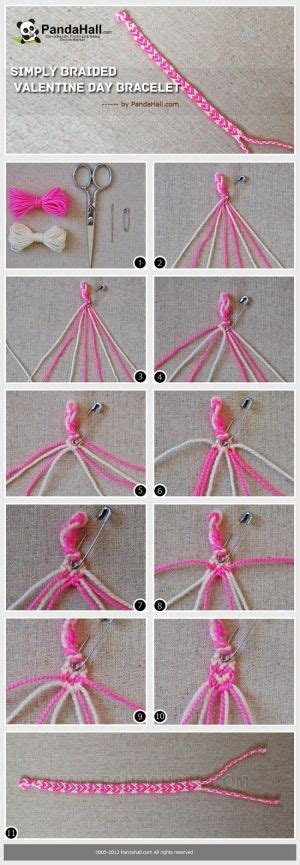 Diy String Patterns - how to make cool bracelets with string really easy