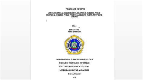 part  format penulisan proposal skripsi fti uniska