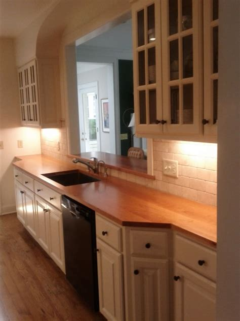 wood countertops with sinks it s waterproof kitchen