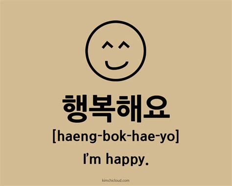 how to say happy in 행복해요 how to say happy in korean kimchi cloud