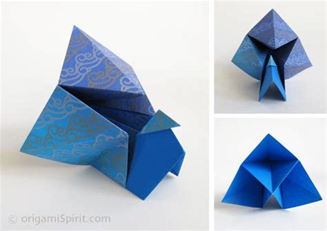 How To Make A Origami Peacock - origami how to fold an easy origami peacock
